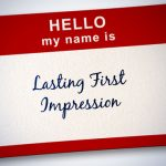 name tag that says lasting first impression