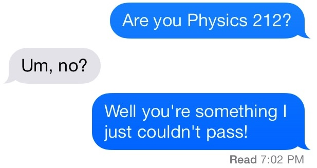 pick-up lines text